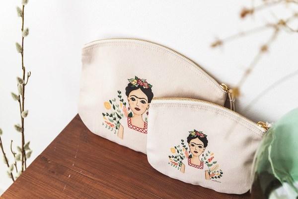 Bolso de mano de algodón orgánico Frida
