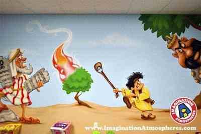 cartoon bible story murals 3