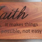 Faith Wood Engraved Sign