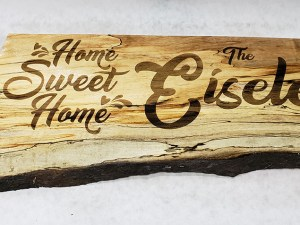Spalted Maple Family Sign