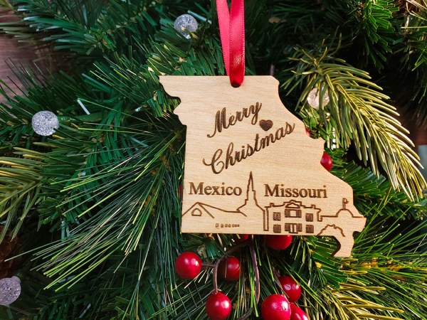 Mexico MO Christmas Ornament