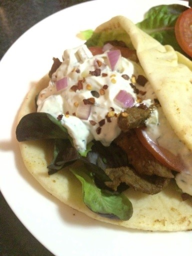 Greek Gyros with Tzatziki and Salad