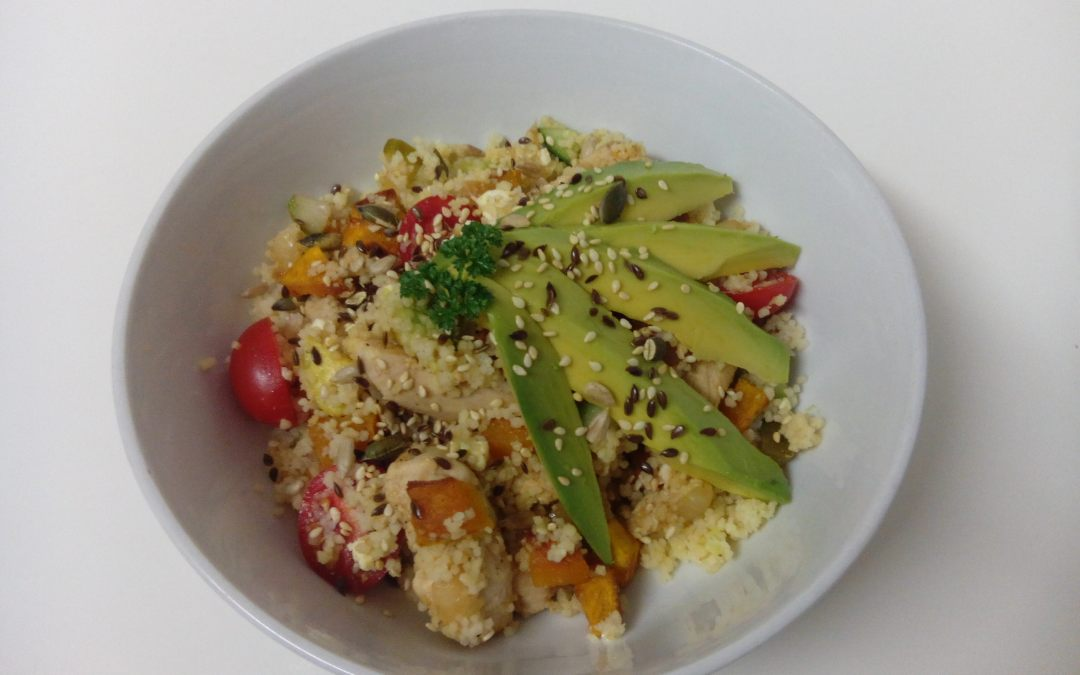 ROASTED BUTTERNUT, CHICKEN AND COUSCOUS SALAD