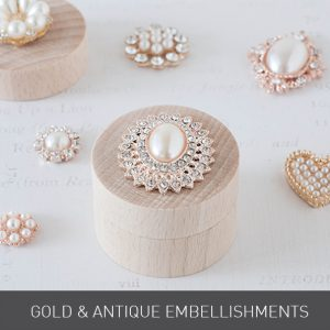 gold antique embellishments wedding decorations crystal pearl