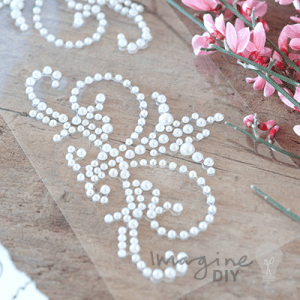 Coronet Pearl - Self Adhesive Stickers, Large pearl embellishment for decorating wedding invitations and stationery.
