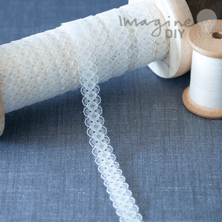 Wedding craft supplies from Imagine DIY   Ivory Lace Ribbon   pretty decorative lace in creme