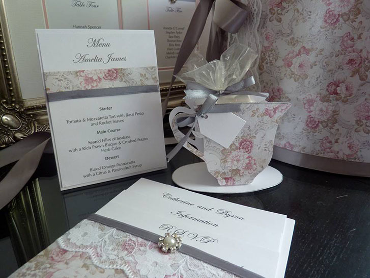 October 2015 winner imagine diy these beautifully designed invitations table plan and clever tea cup place cards have been created by jaquie from crescent angel stopboris Gallery