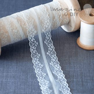 decorative vintage style lace. Pretty lace for decorating DIY wedding invitations, stationery, card making, paper crafts, cakes etc.