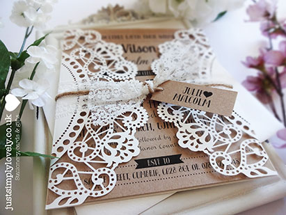 DIY competition winner april 2016 just simply lovely doily wedding invitations