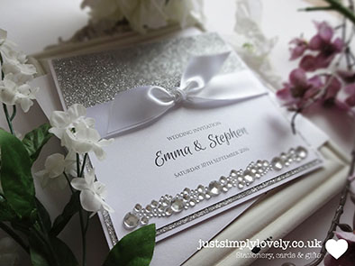 DIY competition winner april 2016 just simply lovely silver glitter paper white satin ribbon constalation crystals stickers
