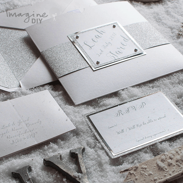Glitter paper silver glitter paper for diy wedding invites diy wedding invitations and stationery silver glitter invitation pocket invitation to make yourself solutioingenieria Gallery