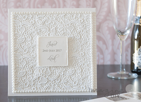 How to make DIY luxury lace pocket invitation with pearls