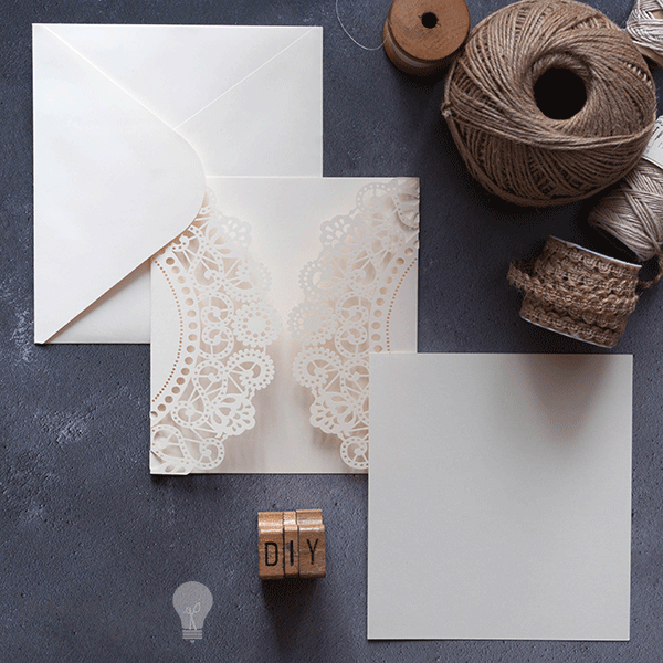 15x135cm cream insert doily imagine diy blank laser cut wedding invitations diy laser cut invitation to decorate yourself diy wedding solutioingenieria Gallery
