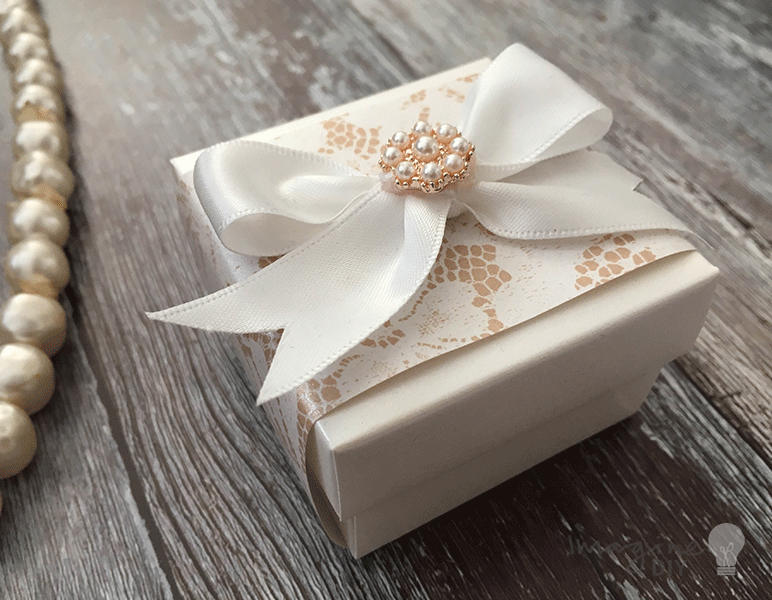 pearlised ivory favour box imagine diy