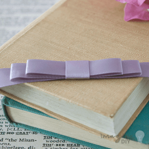 dusky lilac dior bow. Double dior bow for decorating wedding invitations and diy wedding stationery. Pre made bows