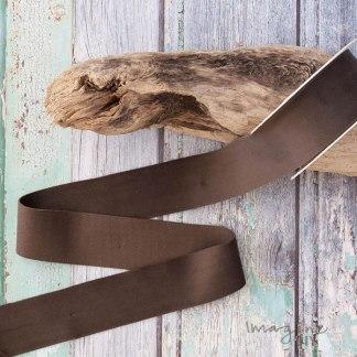 Deluxe Moleskin Brown Velvet Ribbon 40mm - 5 Metre Roll