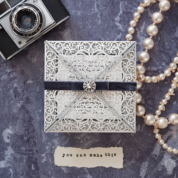 Wedding Invitation Book Style: DIY Vintage Style Wedding Invitations