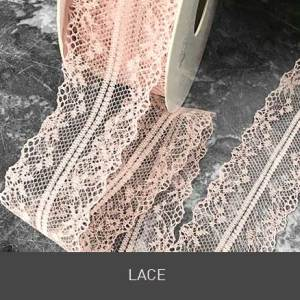 pretty lace. Lace supplies. DIY wedding stationery. Selection of beautiful lace for DIY wedding invitations and crafts.