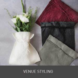 wedding venue styling. DIY wedding supplies. Ideas to decorate your wedding venue. Table runners, ribbons, lace, favours