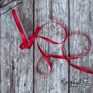 6mm Red Satin Ribbon – 10 Metre Roll