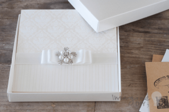 How to Make Ivory Embossed Wedding Stationery