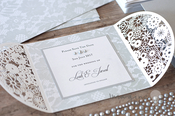 Chantilly lace paper grey imagine diy lace paper diy wedding stationery supplies save the date solutioingenieria Gallery