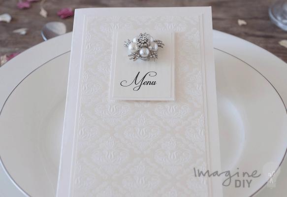 How to Make… Ivory Embossed Wedding Stationery - Imagine DIY