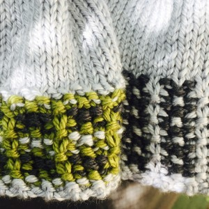 Crossed Furrows Hat pattern detail