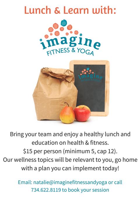 Imagine Fitness & Yoga Lunch & Learns Imagine Fitness & Yoga