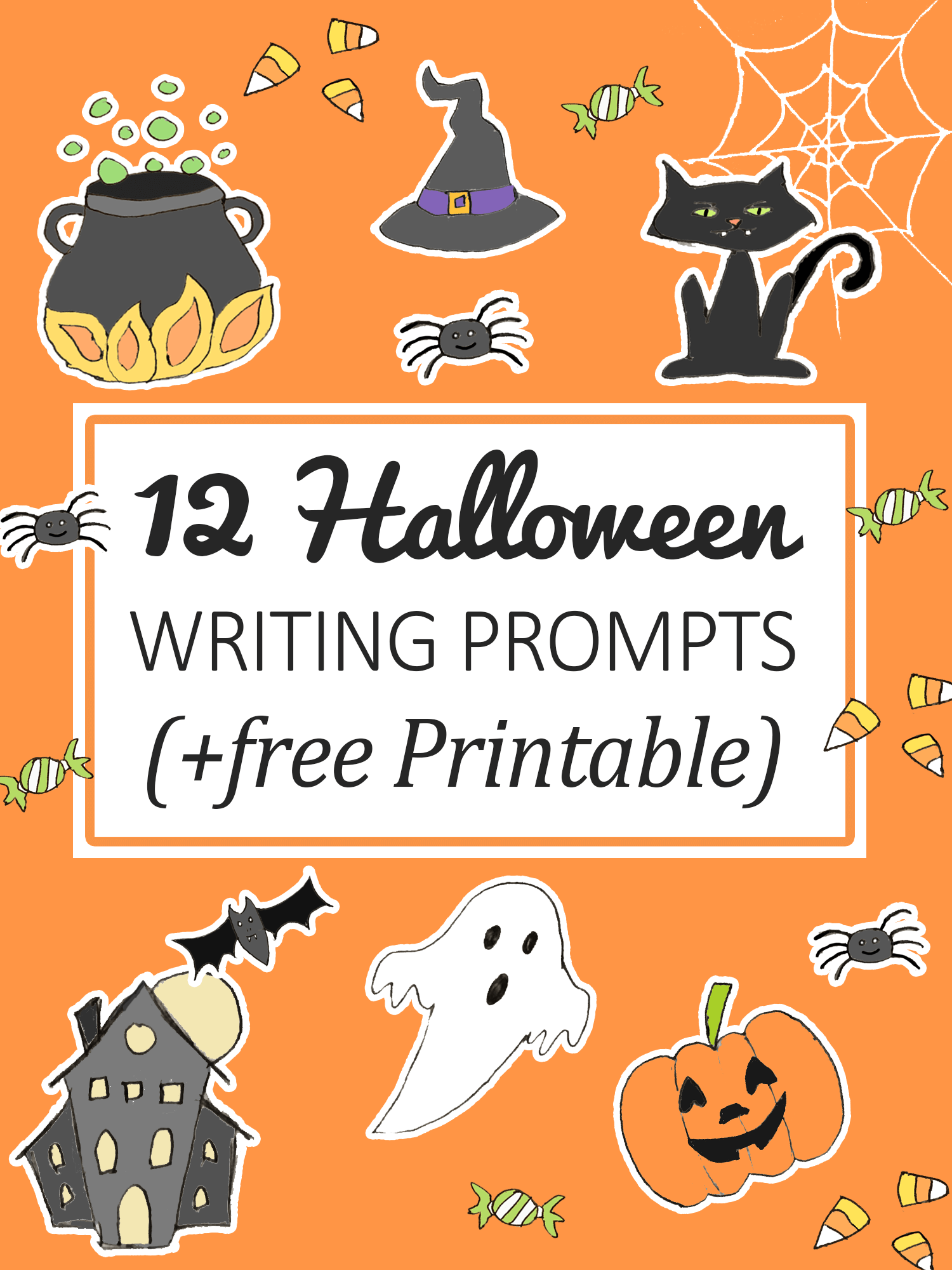 12 Halloween Writing Prompts For Kids Free Printable