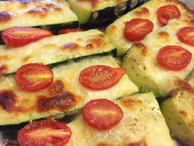 Cheesy Roasted Zucchini