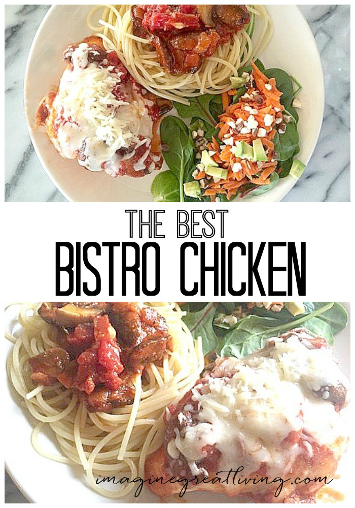 The best bistro chicken ever -- so easy and cheesy