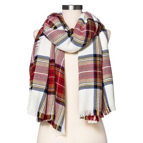 Cozy Plaid Blanket Wrap Scarf