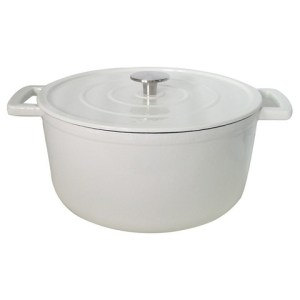 White Cast Iron Dutch Oven Image