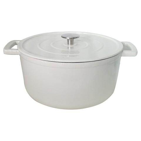 White Cast Iron Dutch Oven