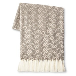 Diamond Patterned Throw Image