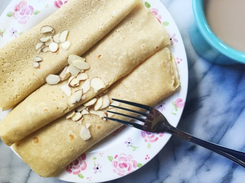 Oat Flour Crepes Recipe (gluten free)