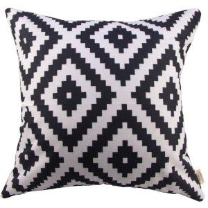 Black & White Geometric Pillow Cover Image