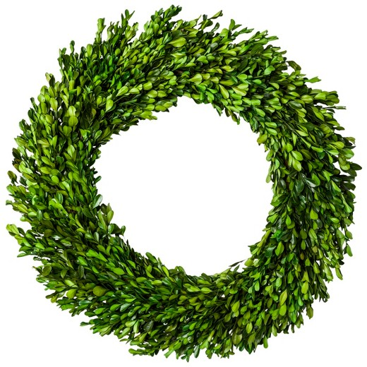 10 Spring Wreaths-boxwood-wreath-target