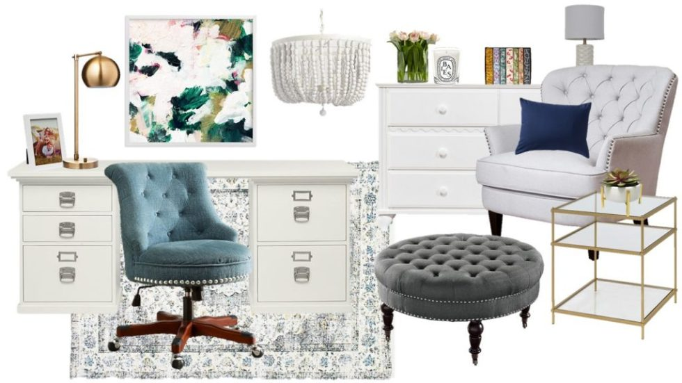 Mood Board Monday - A Feminine Office and Getaway Space