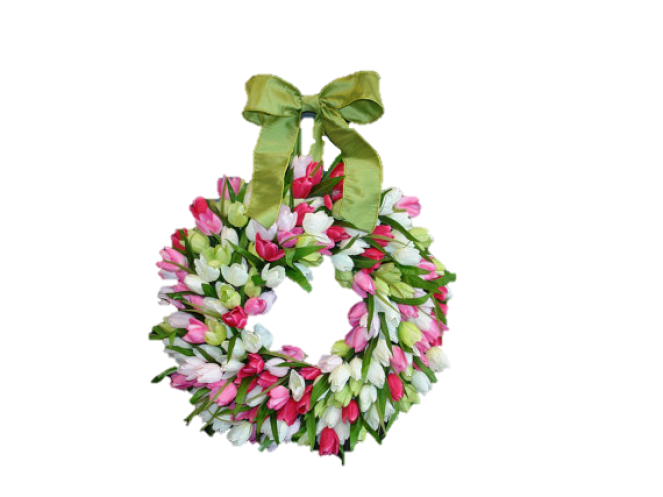 10 Beautiful Spring Wreaths for Your Front Door-tulip-wreath