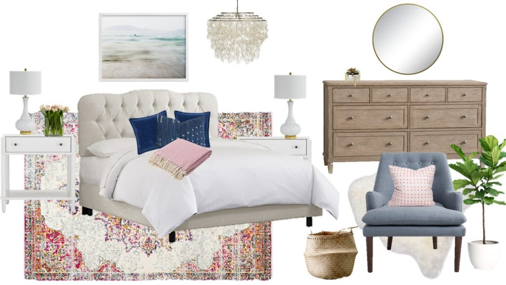 Mood Board Monday - A Light and Breezy Modern Bedroom