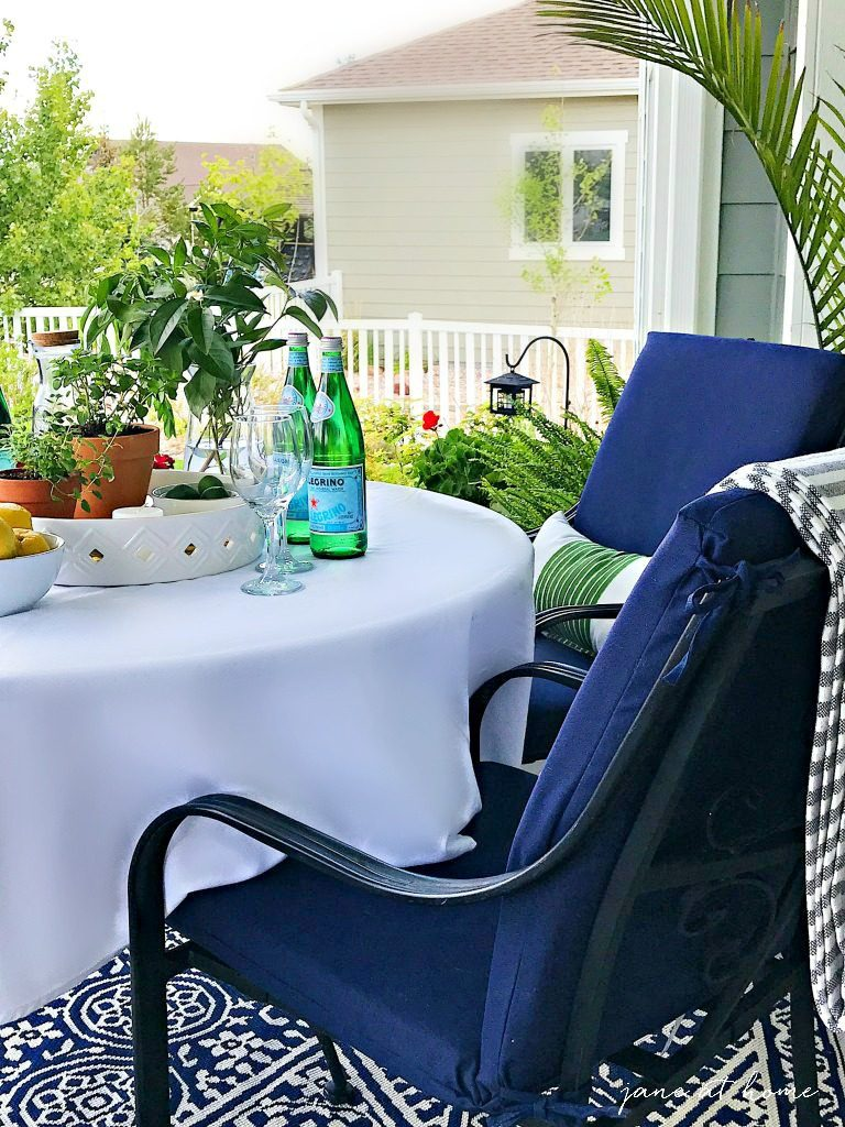 Summer Outdoor Living Tour - ideas and inspiration for your patio, porch and outdoor spaces-lush greenery and hanging curtains