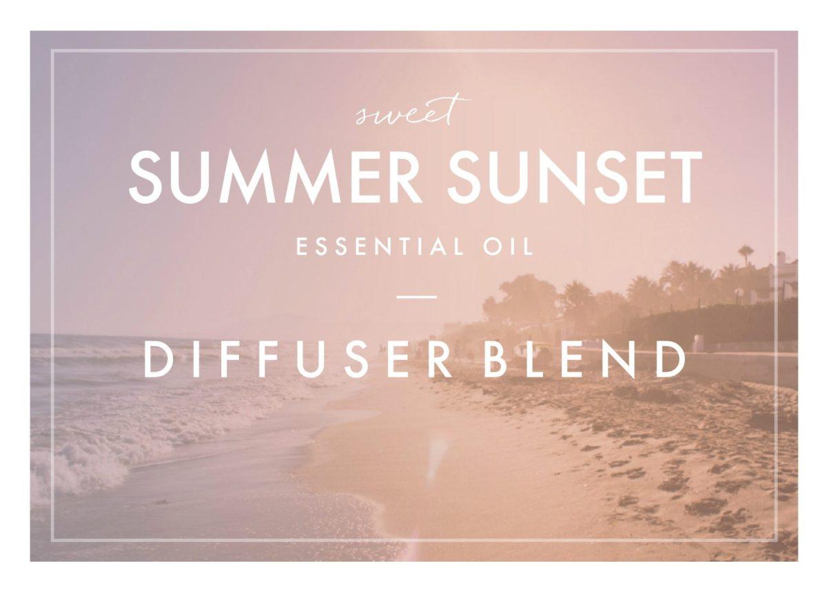 Sweet Summer Sunset Essential Oil Blend
