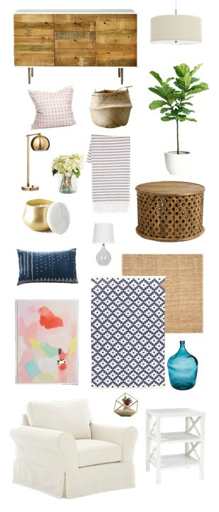 Mood Board Monday: a relaxed and beachy media room design