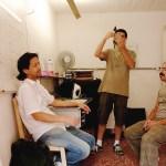 Roger Sassaki, Fernando Fortes e André Paiva no laboratório