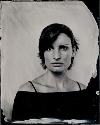 """Renata Bombardi. Ambrótipo 4x5""""."""