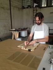 Corte das placas de vidro