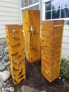 Steel Achitectural garden posts