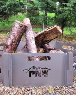 pacific northwest fire pit stainless steel